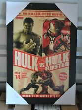 Hulk vs Hulkbuster Framed Avengers Age of Ultron textured Print  Marvel Avengers