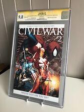Civil War #2 | CGC 9.8 SS Signed Michael Turner, Steve McNiven, Vines, Hollowell