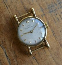 A VINTAGE 1950s LADIES 9ct SOLID GOLD IWC INTERNATIONAL WATCH CO WITH LARGE LUGS
