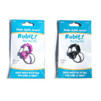 Rubit! Curve Dog Tag Clip | Pet Charm Clip | Pet ID Tag Clip