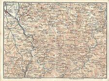 Carta geografica antica PASSO DEI GIOVI SERRAVALLE NOVI 1914 Old antique map