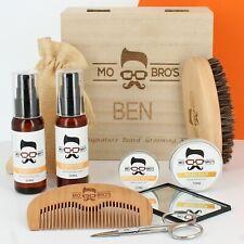 Wooden Beard Grooming Kit - Personalised Signature Box - Includes Beard Oil