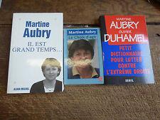 Lot de 3 livres de Martine Aubry : il est grand temps - le choix d'agir