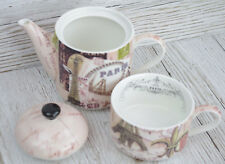 Tea for One France Eiffle Tower Paris Ceramic Perfect Tea lovers Gift (TF044)