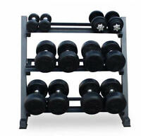 Hex Dumbbell Rack Storage Gym Wide Heavy Duty 3 Tier Steel Holder Stand