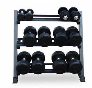 Hex Dumbbell Rack Storage Gym Wide Heavy Duty 3 Tier Steel Holder Stand