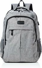 Laptop Backpack 17.3 Inch, Travel Work School Bag, Men Women USB Rucksack Grey