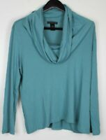 PRESWICK & MOORE  Plus Women's Cowl Collar Top Turquoise Size 1X