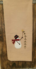""" Snowman Pine Tree "" Dish Kitchen Towel 28"" x 19 Winter Dish Towel"