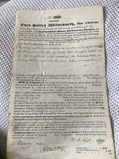 Antique Fire Insurance Document 1829 New Hampshire Mutual Company early paper