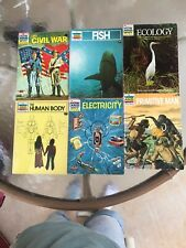 Lot Of 6 The How And Why Wonder Books 1970's Electricity Fish Ecology Civil War