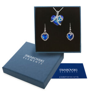 Collana donna oro bianco Swarovski Elements originale G4L cristalli cuore I love