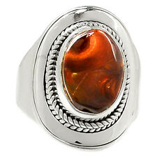 Mexican Fire Agate 925 Sterling Silver Ring Jewelry s.9 SR215029