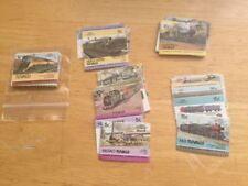 Timbres avec 2 timbres, sur trains, chemins de fer