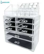 Beautify Storage Extra Large 5 Tier Clear Acrylic Cosmetic Makeup Cube Organizer