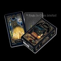 *TAROT FAMILIARS* By Lisa Parker With 78 Coloured Art Illustrated Fournier Cards