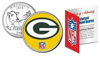 GREEN BAY PACKERS Officially Licensed NFL WISCONSIN US State Quarter Coin w/COA