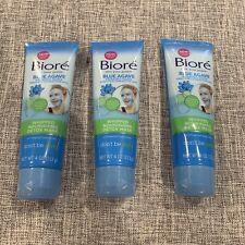3 PACK -Bioré Blue Agave + Baking Soda Whipped Nourishing Detox Mask 4oz Ea New!