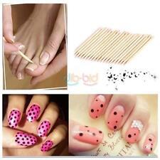 20 Pcs orange Wood Stick Cuticle Pusher Remover Pedicure Manicure Tool