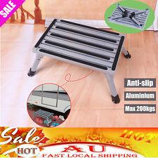 Solid Folding Aluminium Step Stool Loads 200kg Caravan Camping Portable Ladder
