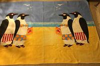 "Vintage Chatham Blanket/ Beach Towel  86""x60"" Beach Theme - Great Subject Matter"