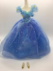 Disney Cinderella Royal Ball Live Action Doll Dress Gown and glass slippers