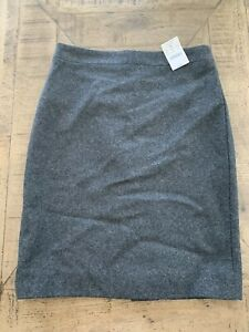NWT $89.50 J. CREW Woman Wool Blend Gray Pencil Skirt Sz 00 NEW