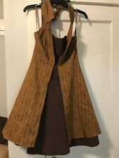 HOT TOPIC Dr Who Regeneration brown halter dress Women's Medium Cosplay Costume