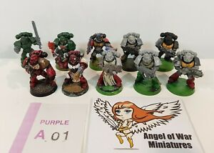 40K Space Marines Various with Mixed Tactical & Assault Weapons (x10) PA01