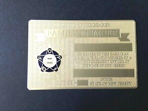 2021 PBA GOLD BRASS CARD FOP, ***NOT ENGRAVED***NOT SIGNED***