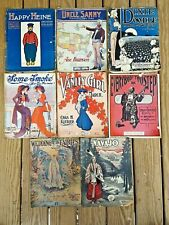 Sheet Music for Piano Antique Lot of 8 - Two Step, March, Rag, Waltz 1903 - 1914