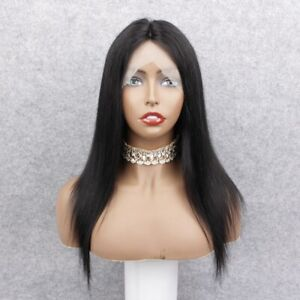 "Free Shipping! 16"" Jet Black #1 Full Lace Wig 100% Brazilian Remy Hair Wig"