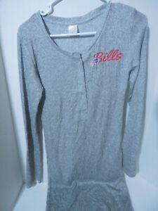New Ladies Buffalo Bills NFL Heathered Grey Long Sleeved Medium Sweater Dress