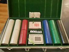 300 Basic Poker Chip Set 8.5 Grams New Cards Dice Felt Case 5 Solid Colors!