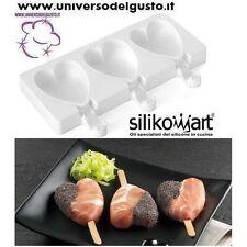 STAMPO SILICONE CUORE MINI di SILIKOMART + BASTONCINI RICETTA gelato finger food