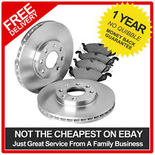 VAUXHALL ASTRA MK5 CDTi 04-09 QUALITY FRONT VENTED BRAKE DISCS AND PADS KIT SET