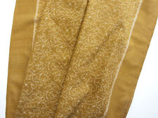 Ikat Cotton Fabric Unusually Intricate Design Hand-Dyed & Hand-Woven Mustard DIY