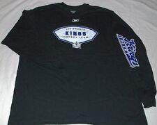 LA Los Angeles Kings T-Shirt 2XL Long Sleeve NHL Hockey Reebok Black Double Logo