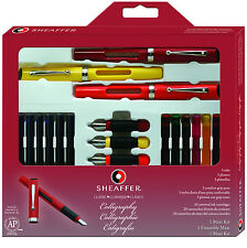 Sheaffer Calligraphy Classic Maxi Kit 3 Pens 20 Ink Cartridges Guide  (73404)