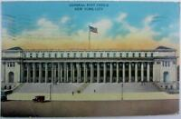 Postcard Antique New York City 1934 General Post Office Used Color One Cent