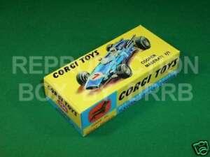 Corgi #156 Cooper Maserati F1- Reproduction Box by DRRB