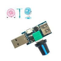 5W Mini Micro USB Fan Speed Controller Stepless Regulator Switch Module DC 4-12V