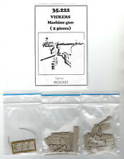 RESICAST 35-222 - VICKERS MACHINE GUN (2 pcs) - 1/35 RESIN KIT