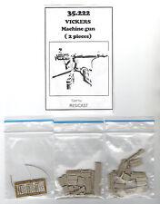 RESICAST 35-222 - VICKERS MACHINE GUN (2 pcs) - 1/35 RESIN KIT