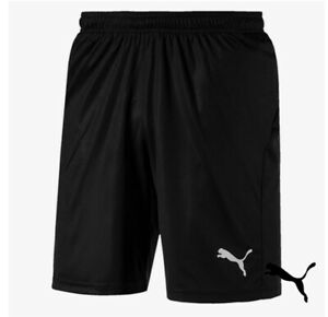 BNWT Men's Puma Liga Core Black Football Shorts UK Sizes S M L