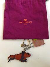 Etro lizard iguana key ring key chain charm NWT