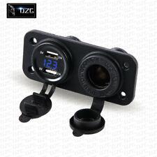 12V 24V Dual USB Charger Car Cigarette Lighter Socket Plug Panel For Car Motorcy