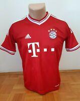 BAYERN MUNICH Football Home Shirt Jersey Trikot 2013 2014 Red Adidas Boys