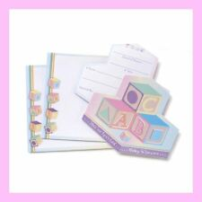 SALE $4.00! ABC Block Baby Shower Invitations - Set of 12 with Envelopes