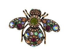 Joan Rivers Prismatic Crystal Bee Pin Brooch Brand NEW in box never worn RARE